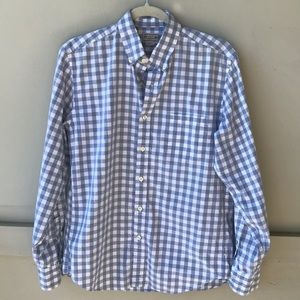 J. Crew Gray and White Mens Button Down